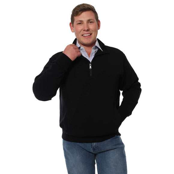 Ringers Western Gippsland Mens Wool Sweater Black
