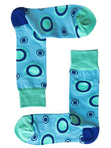 SOX by angus Blue Circles Socks