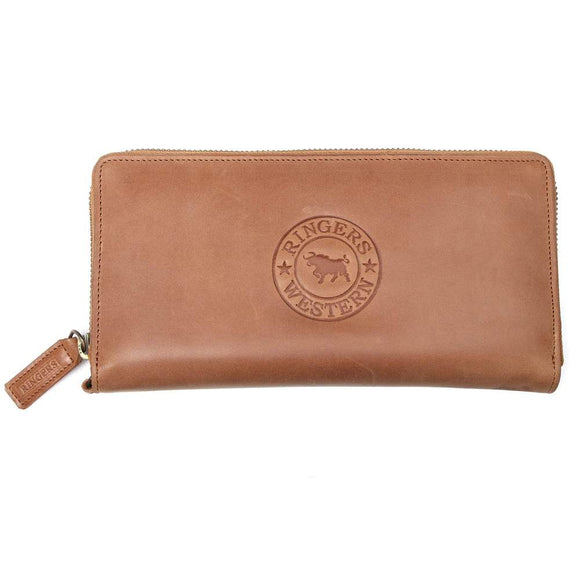 Ringers Western Tathra Wmns Zip Purse Whiskey