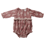 Love Henry Baby Girls Long Sleeve Nora Mulberry Leaves