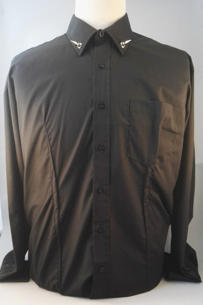 Mens spike collar shirt