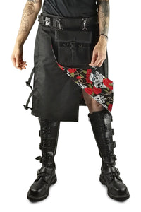Knee length black kilt