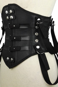 Leather bondage corset