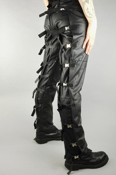 Leather bondage trousers
