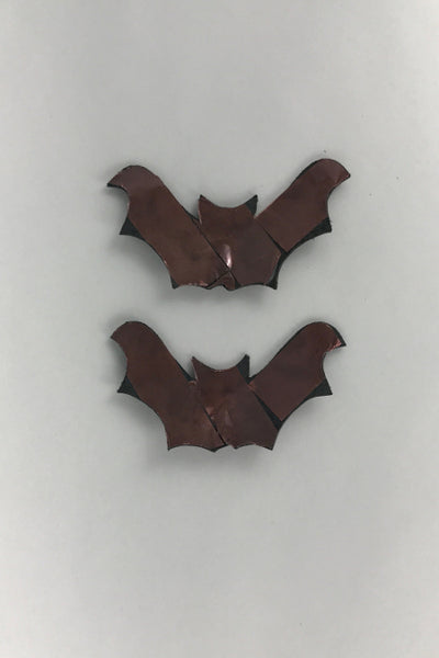 Bat shaped leather nipple pasties