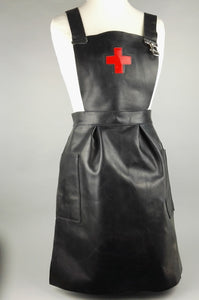 Leather medical nurse apron
