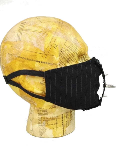 Pinstripe face mask
