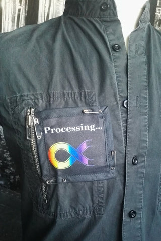 Autistic spectrum pin on patch