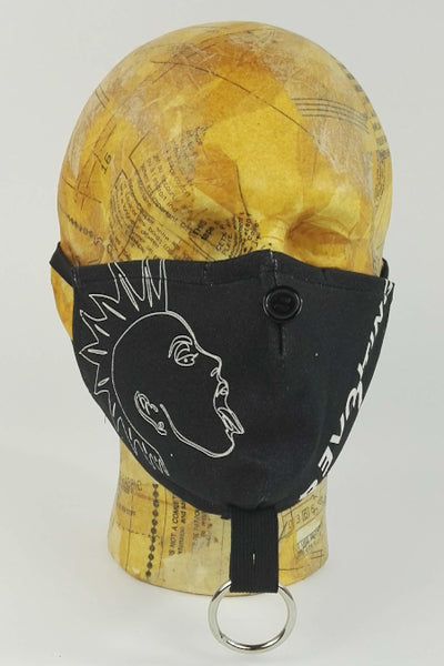 Punk face mask with nose wire
