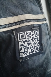 QR code pin on patch