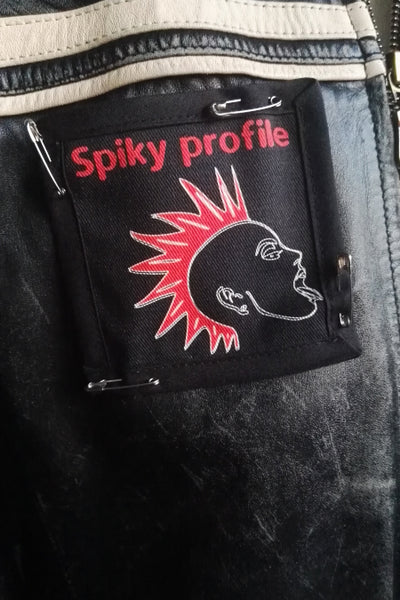Spiky profile pin on patch