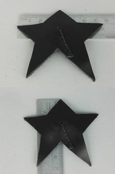Star shaped leather nipple pasties