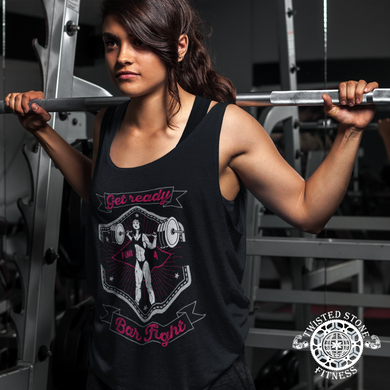 Get Ready for a Bar Fight Ladies Ideal Racerback Tank