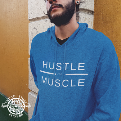 Hustle over Muscle Unisex Triblend Hooded T-Shirt