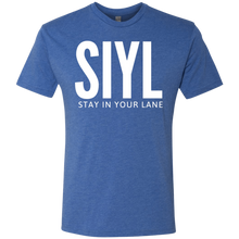 Load image into Gallery viewer, SIYL: Stay In Your Lane Men's Tri-blend T-Shirt