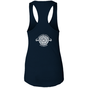 SIYL- Stay In Your Lane Ladies Ideal Racerback Tank (logo back)