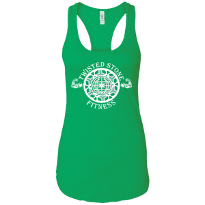 SIYL- Stay In Your Lane Ladies Ideal Racerback Tank (logo front)