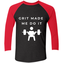 Load image into Gallery viewer, Grit Made Me Do It 3/4 Sleeve Baseball Shirt