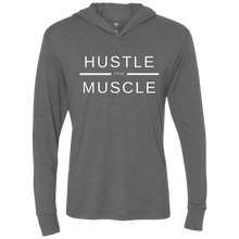 Load image into Gallery viewer, Hustle over Muscle Unisex Triblend Hooded T-Shirt
