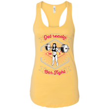 Load image into Gallery viewer, Get Ready for a Bar Fight Ladies Ideal Racerback Tank