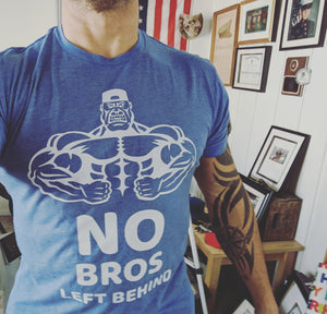 No Bros Left Behind Premium Tri- Blend Men's T-Shirt