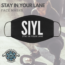 Load image into Gallery viewer, Twisted Stone Fitness Stay In Your Lane Cover Mask
