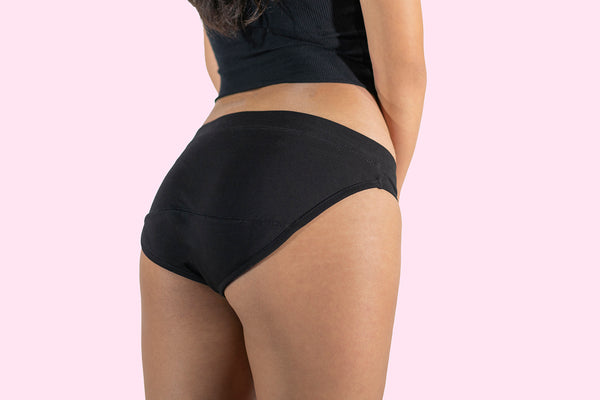 Ladies full brief organic cotton period underwear