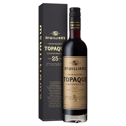 McWilliam's Show Reserve Limited Release 25 Year Old Topaque