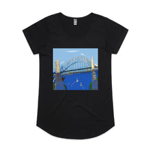 Sydney Harbour - Women's Drop T-shirt - Black