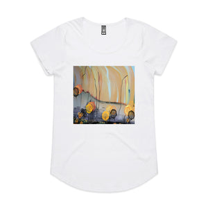 After The Fire - Women's Drop T-shirt - White