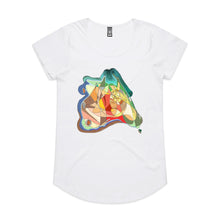 Map Of Oz - Women's Drop T-shirt - White