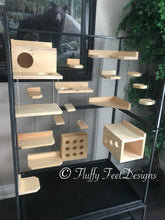 Load image into Gallery viewer, Kiln Dried Pine Chinchilla 18 Piece Ledge set with Poop Guards + Mounting Hardware