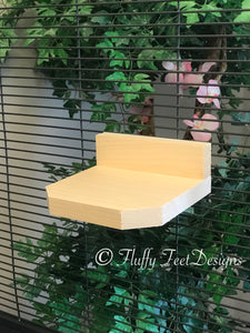 Kiln Dried Pine Chinchilla Ledge with Poop Guard and Mounting Hardware 5.5 inch
