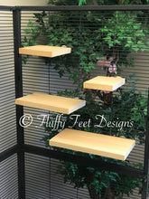 Load image into Gallery viewer, Kiln Dried Pine 4 Piece Chinchilla Ledge Set + Mounting Hardware