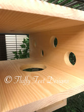 Load image into Gallery viewer, Kiln Dried Pine Xtra Large Peek-A-Boo Tunnel and 5 1/2 inch ledge + Mounting Hardware