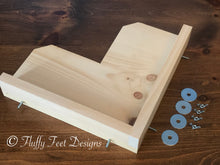 Load image into Gallery viewer, Kiln Dried Pine Chinchilla 5 Piece Ledge set with Poop Guards + Mounting Hardware