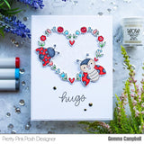 Large Floral Hearts Stamp Set