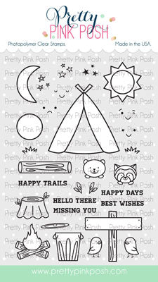 Camping Friends Stamp Set