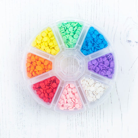 Clay Confetti Wheel