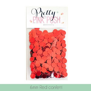 6mm Red Confetti