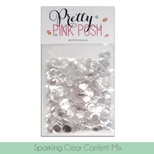 Sparkling Clear Confetti Mix