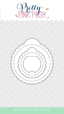 Scallop Circle Tags Dies