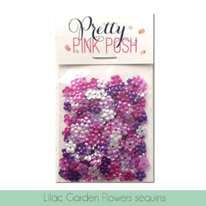 Lilac Garden Flowers Sequins Mix