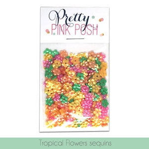 Tropical Flowers Sequins Mix