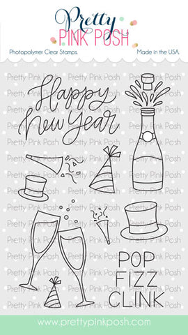 Happy New Year Stamp Set