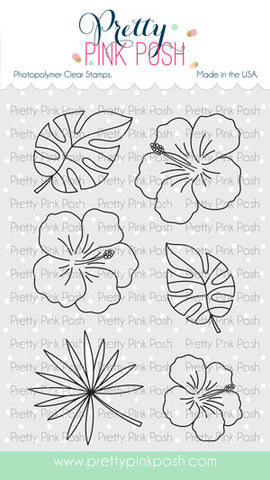 Hibiscus Flowers Stamp Set