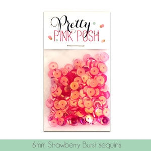 6mm Strawberry Burst Sequins