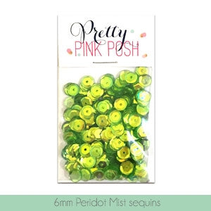6mm Peridot Mist Sequins