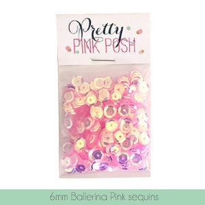 6mm Ballerina Pink Sequins