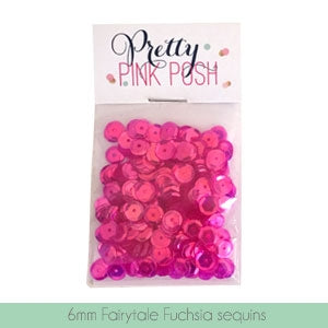 6mm Fairytale Fuchsia Sequins